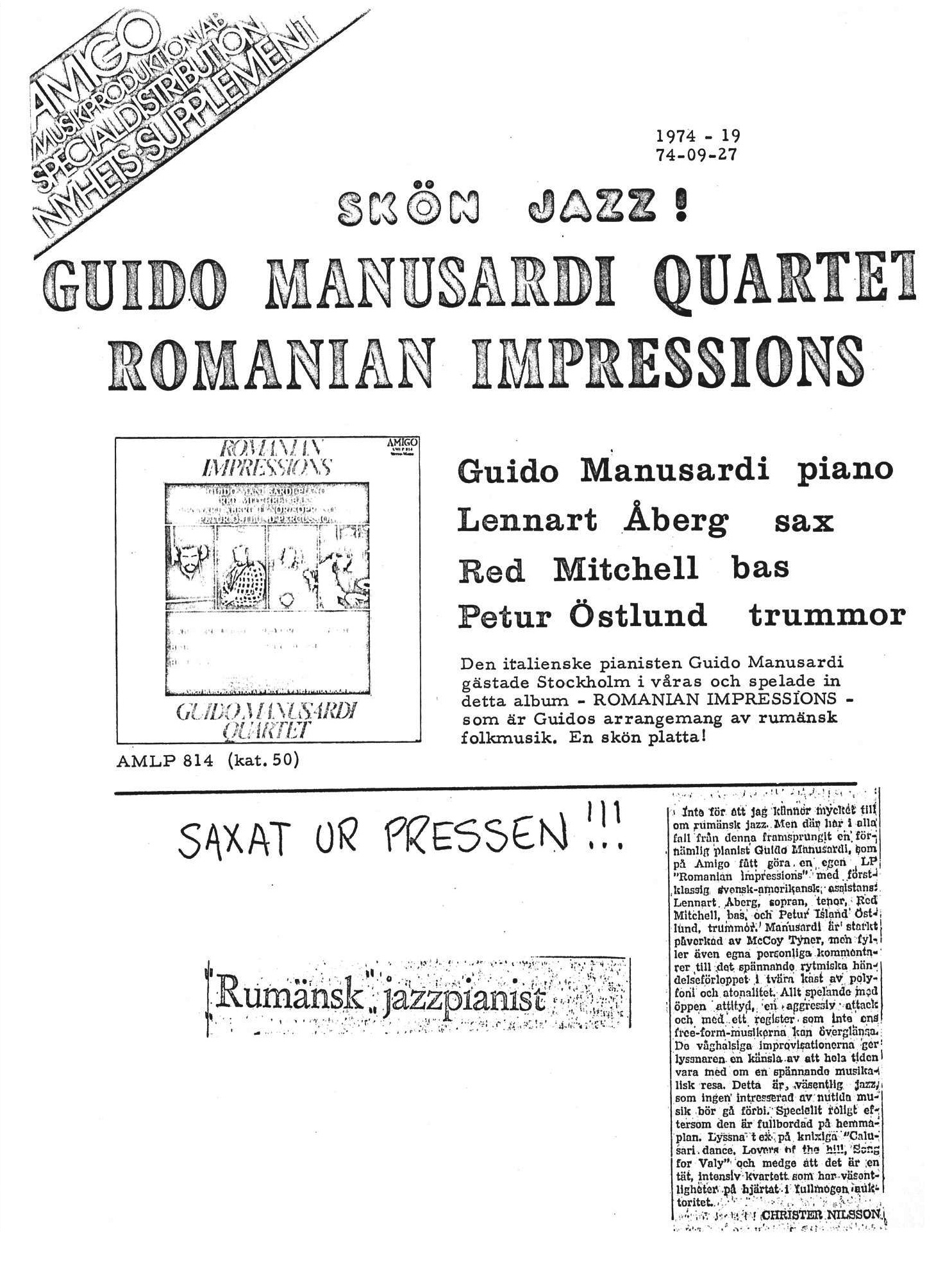 ROMANIAN IMPRESSION 1974