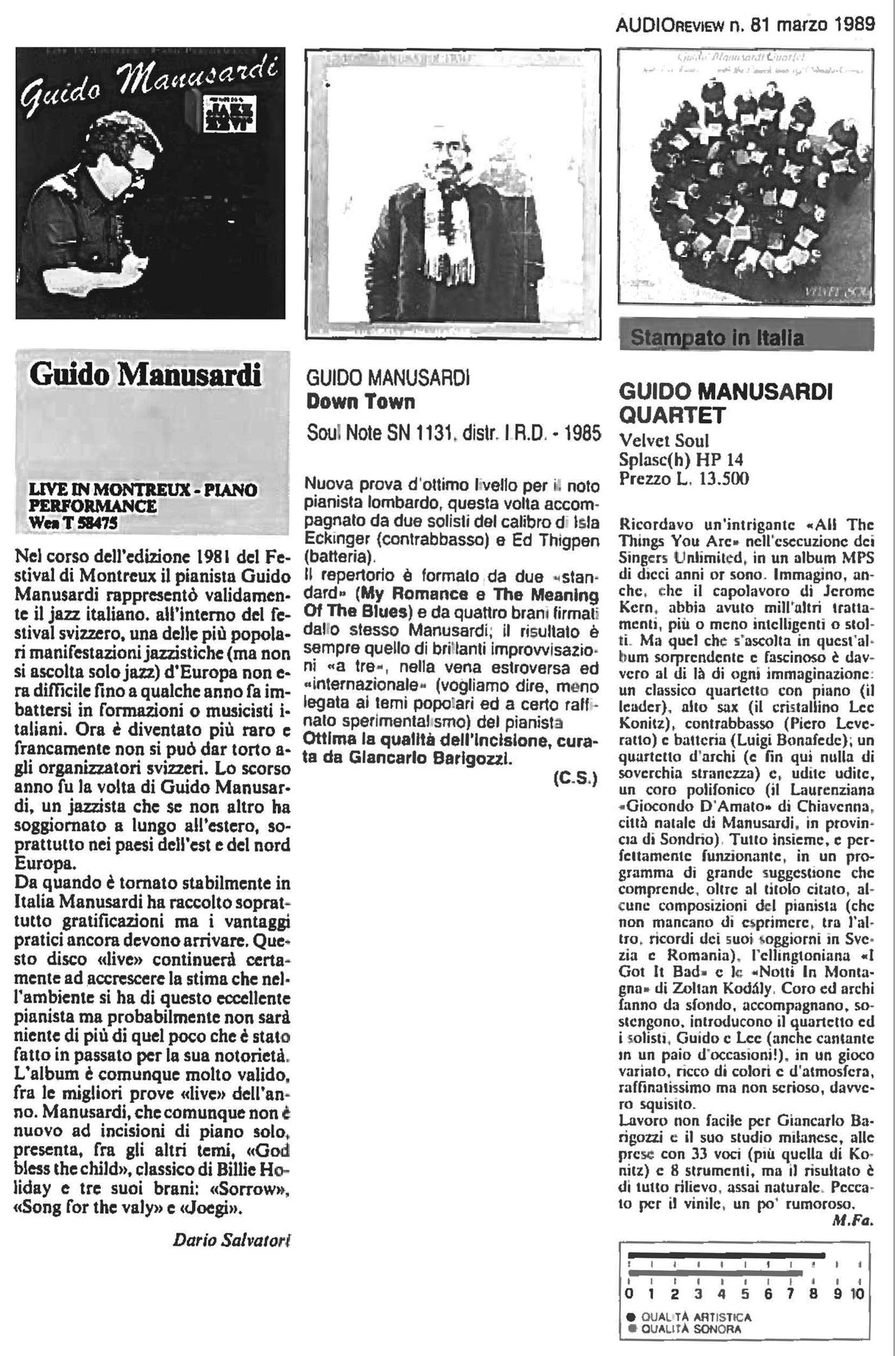 AUDIO REVIEW 1989