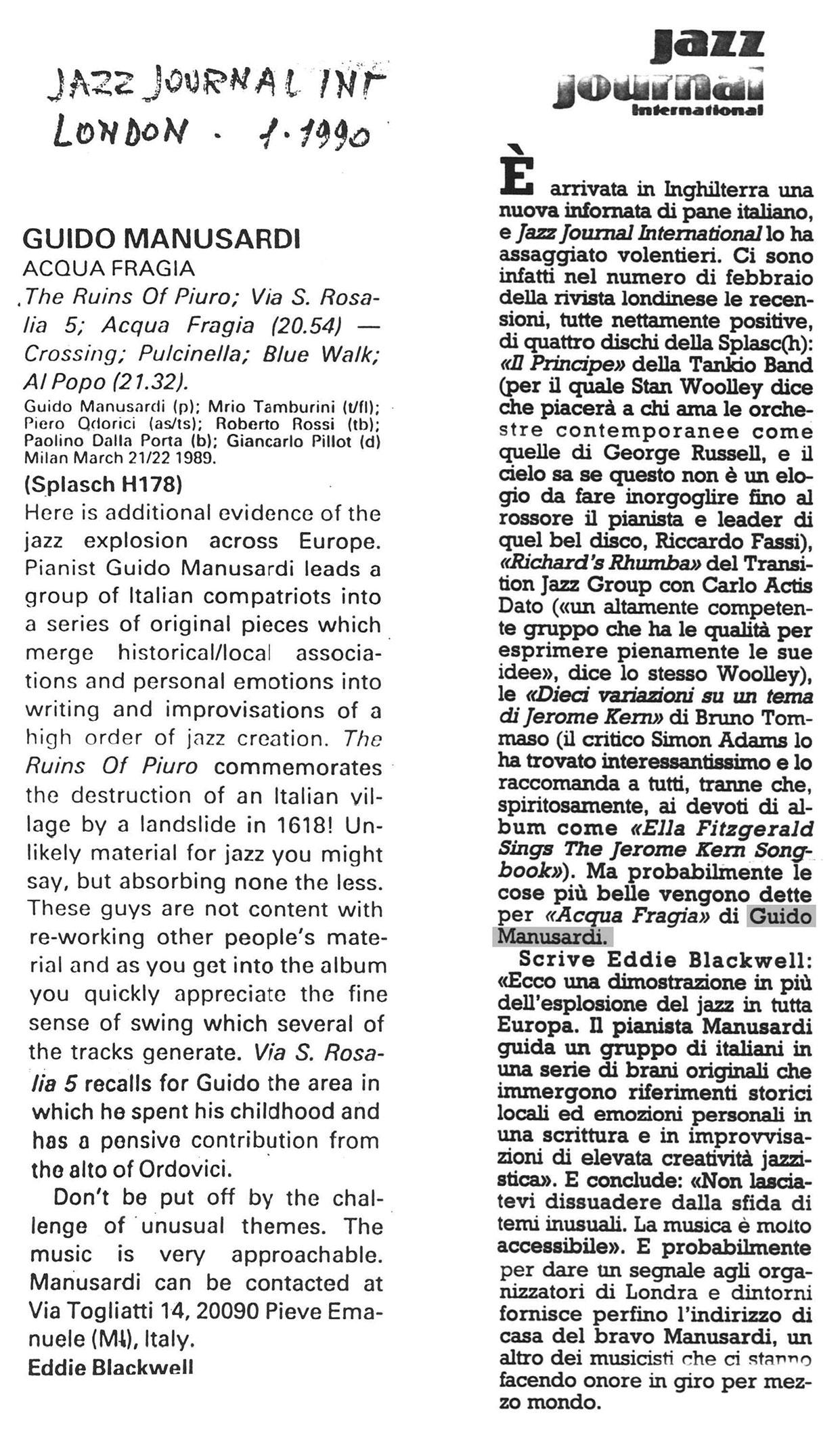 JAZZ JOURNAL 1990