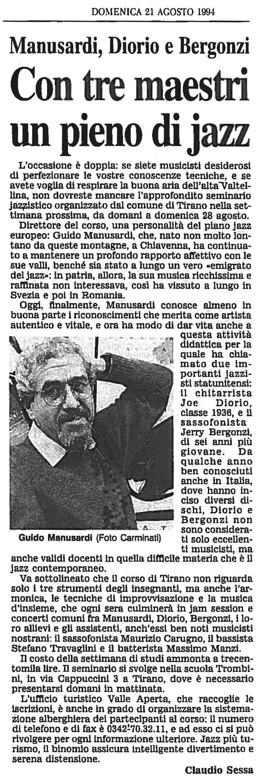 MANUSARDI, DIORIO, BERGONZI - CON TRE MAESTRI UN PIENO DI JAZZ 1994