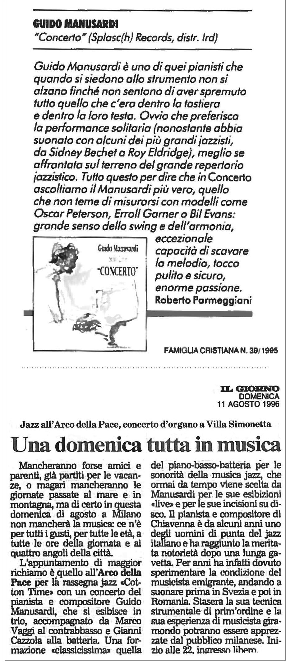 FAMIGLIA CRISTIANA 1995 IL GIORNO 1996