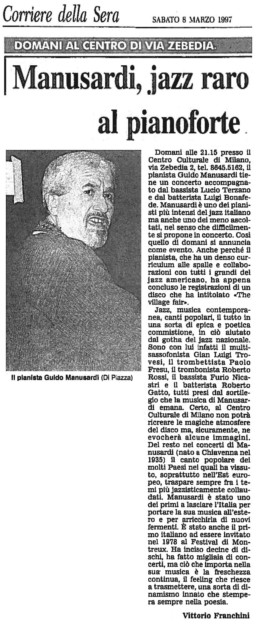 CORRIERE DELLA SERA 1997